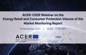 ACER-CEER Webinar on the Energy Retail and Consumer Protection Market Monitoring Report